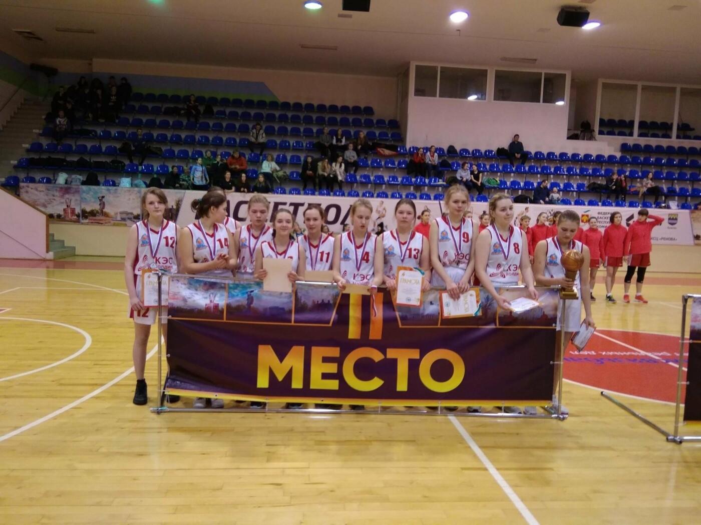 Женская команда ухтинских кадеток заняла 2 позицию на турнире, Фото предоставлено Коми Республиканской Федерацией Баскетбола
