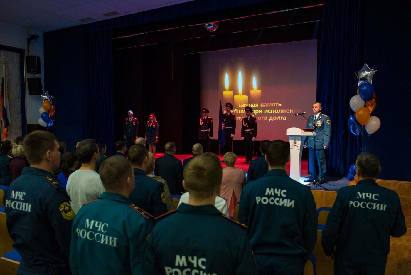 Торжественное мероприятие, посвященное Дню пожарной охраны России - Фото предоставлено пресс-службой администрации МОГО «Ухта»