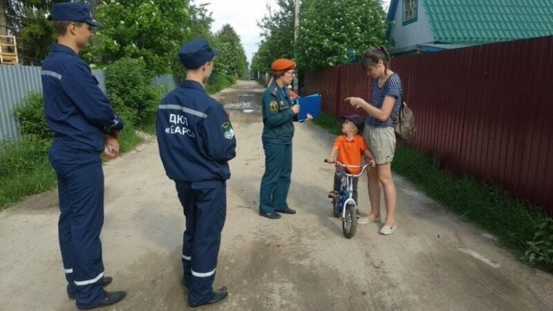 Агитационный рейд юных пожарных и сотрудников МЧС