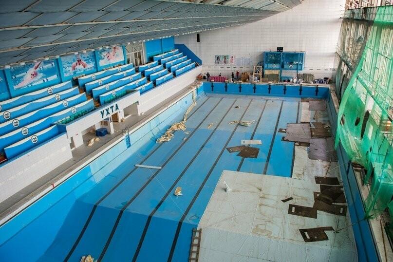 Обзор состояния большой ванны городского бассейна Ухты, Фото предоставлено пресс-службой АМОГО «Ухта»