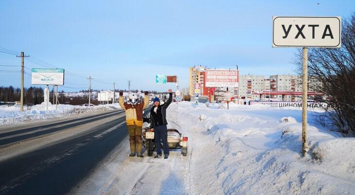 Кировского мотопутешественника встретили в Ухте по дороге на Полярный круг, фото-1